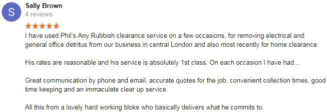 e1 rubbish clearance